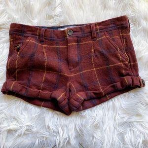 Abercrombie & Fitch Plaid Wool Silk Cuff Shorts 4